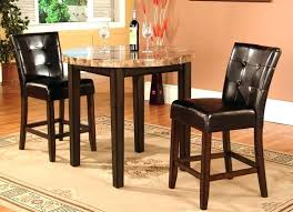 round pub dining table sets black pub table and chairs 3 faux marble top counter height