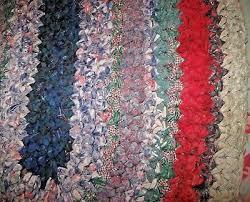 3 of 11 vintage handmade oval rag rug braided cotton rag multi color handcraft 18