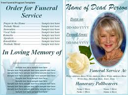 Funeral Program Word Template Custom Free Funeral Program Templates On The Download Button To Get
