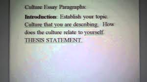 culture essay paragraph details