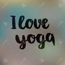 Poster With Quotes Lettering I Love Yoga Fitness Typographic
