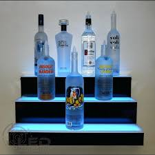 led bar shelf bottle display shelf restaurant equipment 3 step standard wall 3 led bar shelf