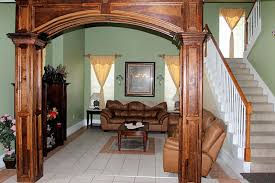 wooden arch design for living room designs