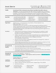Examples Of Military Experience On A Resume Inspirational Military ...