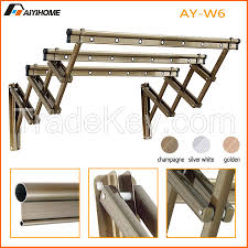wall mounted push pull clothes drying rack