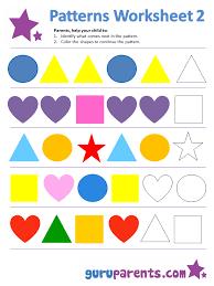 Pattern Worksheet For Kindergarten Worksheets for all   Download ...