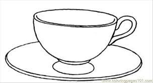 Pioneering Coffee Coloring Pages Cup Vector Cartoon Clip Art Of A