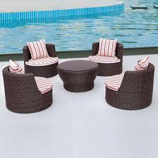 image of round patio lounge chairs