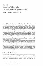 knowing what to do on the epistemology of actions springer inside