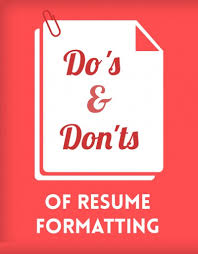Resume Formatting Mesmerizing The Do's Don'ts Of Resume Formatting BCJobsca