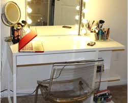 ... Make Up Table Design Ideas With Beautiful DIY White Vanity Color And  Charming Blue Dresser Also Nice Three Glass Mirror For Vintage Startling Q 2