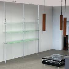 glass shelving units tension pole glass shelving unit glass shelving units living room