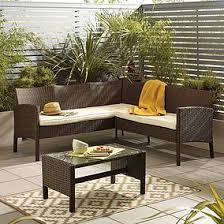 garden furniture. Gobi Brown 4 Seat Corner Sofa Set Garden Furniture
