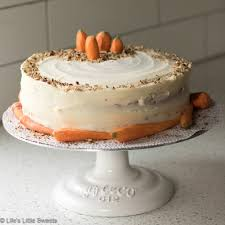 Homemade Classic Carrot Cake With Cream Cheese Frosting Pecans