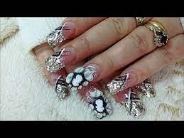 snakeskin acrylic nails tutorial