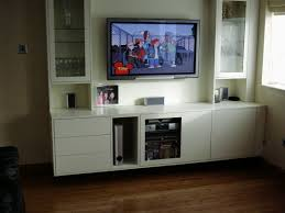 Living Room:White Wooden TV Cabinet Living Room Idea Contemporary Living  Room with TV Wall