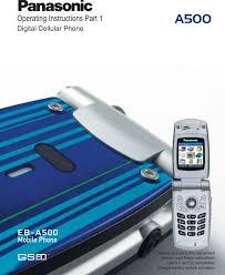Panasonic A500 Part 1 Operating ...