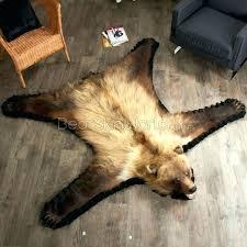 fake bear skin rug with head bearskin faux polar
