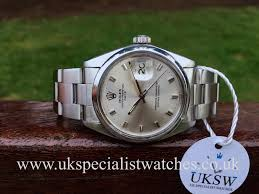 vintage rolex watches for uksw browse vintage rolex watches rolex oyster perpetual date rare silver dial stainless steel 1500