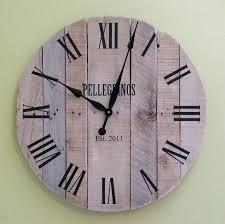 large pallet clock reclaimed wood wall rustic uk