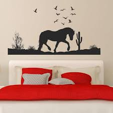 horse silhouette wall decal beautiful