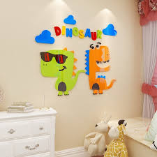 creative ins cartoon dinosaur diy childrens room bedroom home living room tv background wall decoration 3d