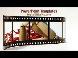 Movie Powerpoint Template Movie Film Roll Powerpoint Template Backgrounds Digitalofficepro 00961w
