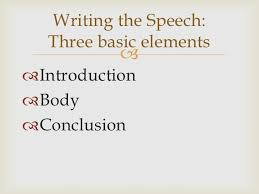 speech writing introduction and conclusion writing
