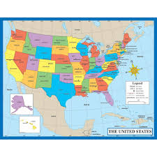 Us Map Chart Help Students Remember The 50 States By Providing A Map
