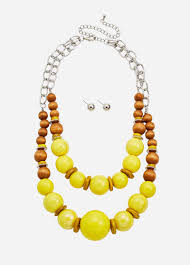 Layered Chunky Beaded Necklace