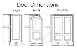 door dimensions double doors exterior