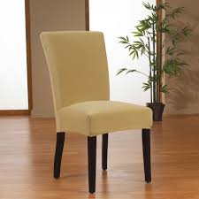 sure fit stretch velvet dining chair slipcover in gold