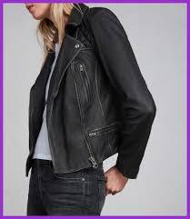 shocking allsaints uk wo cargo leather biker jacket black grey for women style and ed