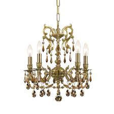 gramercy 5 light crystal candle chandelier crystal type golden teak majestic wood polished finish