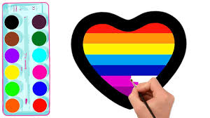 Laugh, cry, laugh til you cry and so many more cute little emojis. How To Draw A Rainbow Hearts And Emoji Coloring Page For Kids Learn Colors For Kids Youtube
