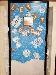winter door decorating contest. Many Doors Took The Theme Literally: Winter Wonderland. These Rooms, Like Mrs. Shelton, Quarry, And Peck, Incorporated Snowflakes In Design. Door Decorating Contest