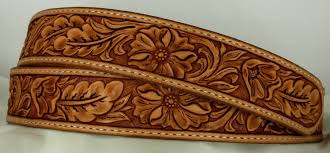 custom leather belt hand tooled leather belt