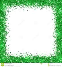Green Border Frame Green Glitter On White Background