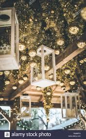 Light Up Luminaries November 28 Christmas Lanterns Hanging From A Ceiling Geneva