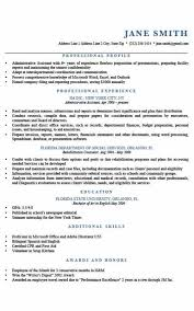 What To Put In Professional Profile On Resume Resume Profile Examples Formatted Templates Example