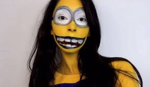 minion makeup with long hair