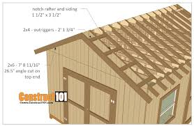 diy shed roof framing elegant 12x16 shed plans gable design construct101