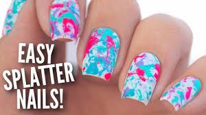 Paint Splash Nail Design Easy Paint Splatter Nail Art Tutorial Splatter Nails Nail