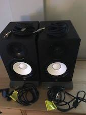 yamaha hs7 pair. yamaha hs7 studio monitors (pair) with free 1/4 inch cable and auralex hs7 pair