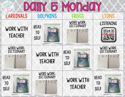 Daily 5 Rotation Chart Going Strong In 2nd Grade How We Do Daily 5