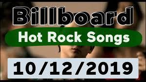 Billboard Top 50 Hot Rock Songs October 12 2019