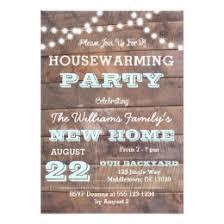 Barnwood Lights Aqua Housewarming Invitations ...