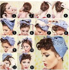Vintage Pin Up Hairstyle Hair Pin Up Hair Bandana Hairstyles A