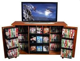 glamorous black dvd storage cabinet glass