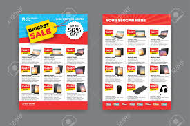Sample Of Flyer 2 Sides Flyer Template For Sale Promotion With Sample Product